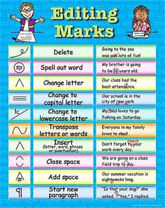 Editing Marks for Writing