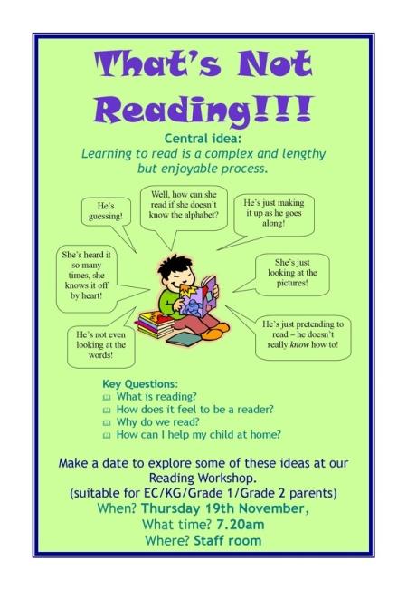 reading workshop poster
