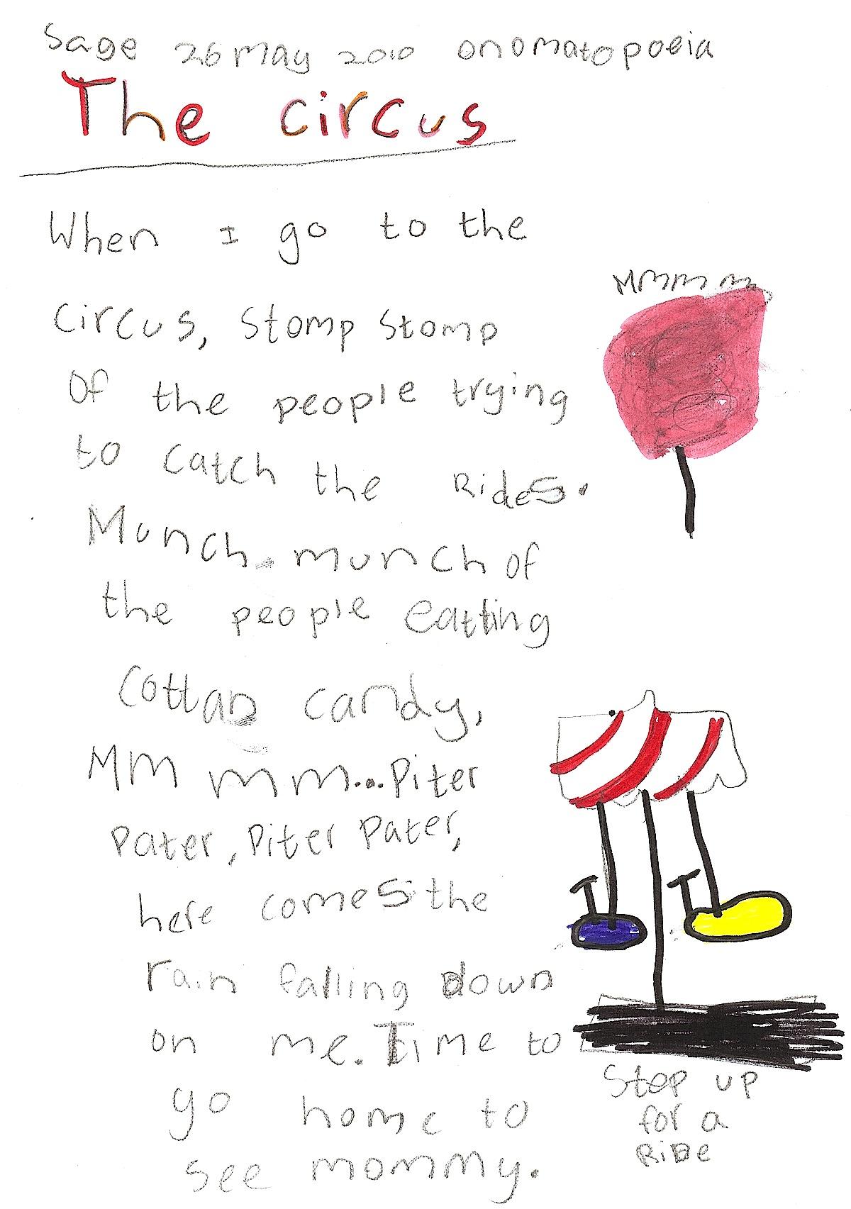 Onomatopoeia Poetry Examples