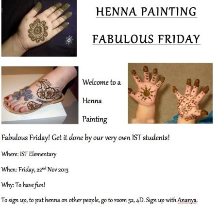 Henna Painting - Fabulous Friday