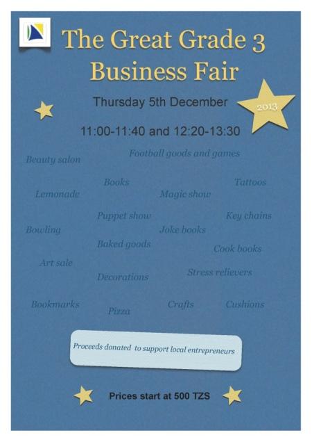 Grade 3 Business Fair